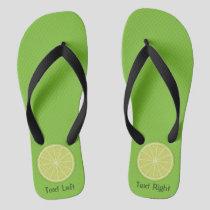 Lime Slice Flip Flops