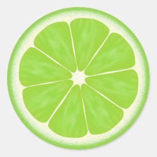 Lime slice fun cartoon food sticker