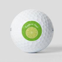 Lime Slice Golf Balls