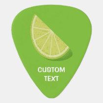 Lime Slice Guitar Pick