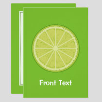 Lime Slice Invitation