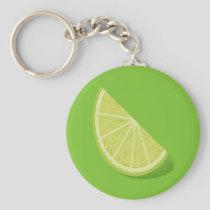 Lime Slice Keychain