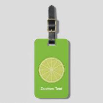 Lime Slice Luggage Tag