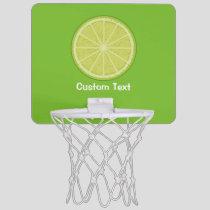 Lime Slice Mini Basketball Hoop