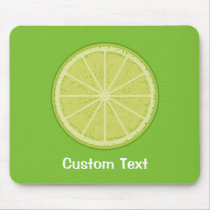 Lime Slice Mouse Pad