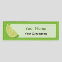 Lime Slice Name Tag