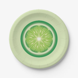 Lime Slice Paper Plate