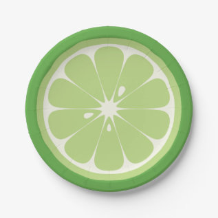Lime Slice Paper Plate at Zazzle