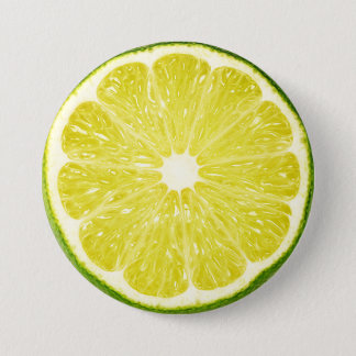 Lime Slice Pinback Button