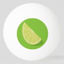 Lime Slice Ping Pong Ball