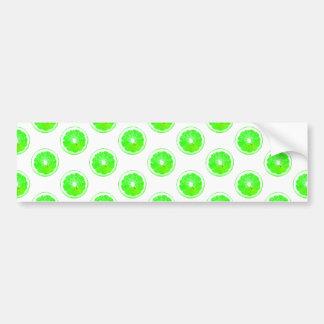 Lime Slice Polka Dots Pattern Bumper Sticker
