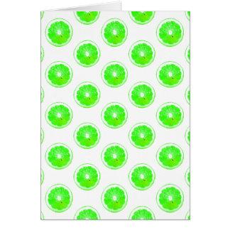 Lime Slice Polka Dots Pattern Card