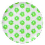 Lime Slice Polka Dots Pattern Plates