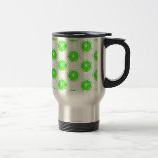 Lime Slice Polka Dots Pattern Travel Mug