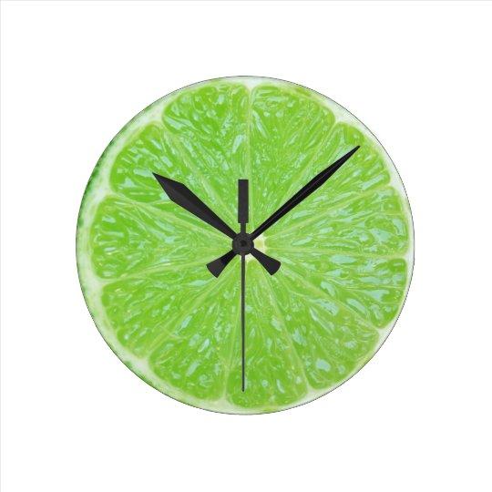 lime slice round clock