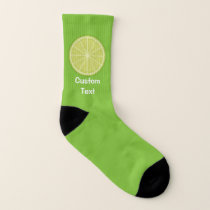 Lime Slice Socks