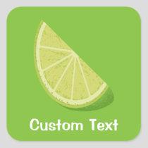 Lime Slice Square Sticker