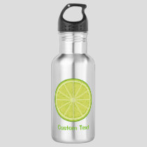 Lime Slice Stainless Steel Water Bottle