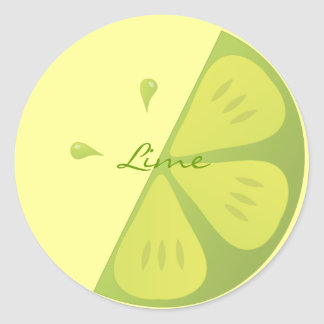 Lime Slice Stickers