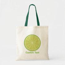Lime Slice Tote Bag