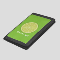 Lime Slice Trifold Wallet