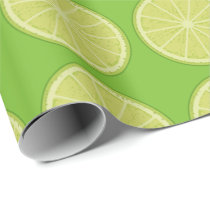 Lime Slice Wrapping Paper