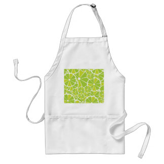 Lime slices adult apron
