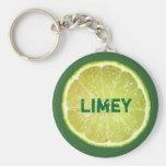 Lime Slices Basic Round Button Keychain