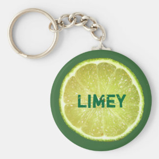 Lime Slices Basic Round Button Keychain