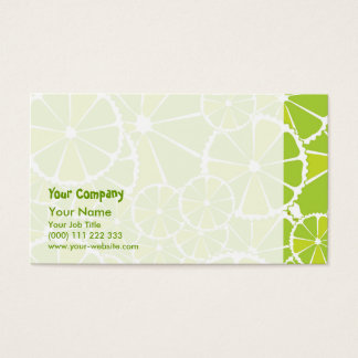 Lime slices business card