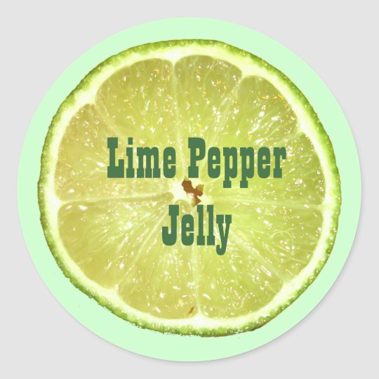 Lime Slices Classic Round Sticker