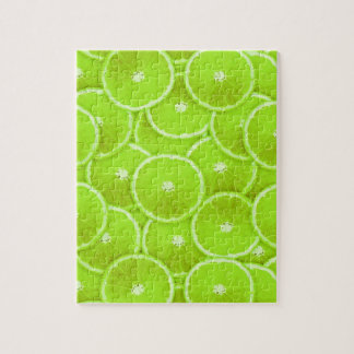 Lime slices jigsaw puzzle