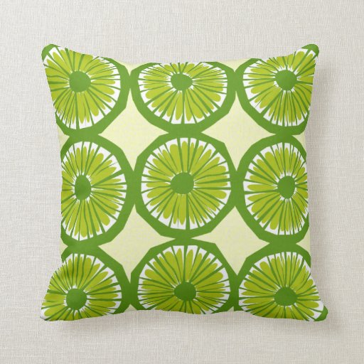 Lime Slices Large - 2 Throw Pillows