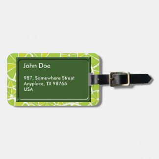 Lime slices luggage tags