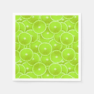 Lime slices napkin
