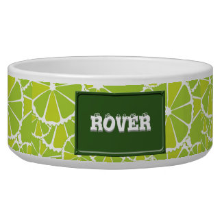 Lime slices dog water bowl