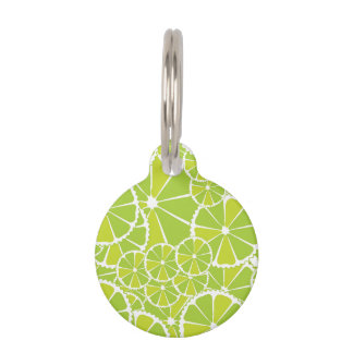 Lime slices pet ID tag