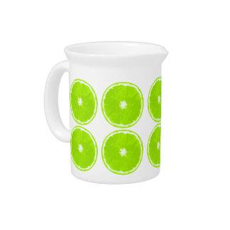 Lime slices - Retro-Modern Drink Pitcher