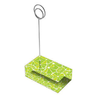 Lime slices table card holders