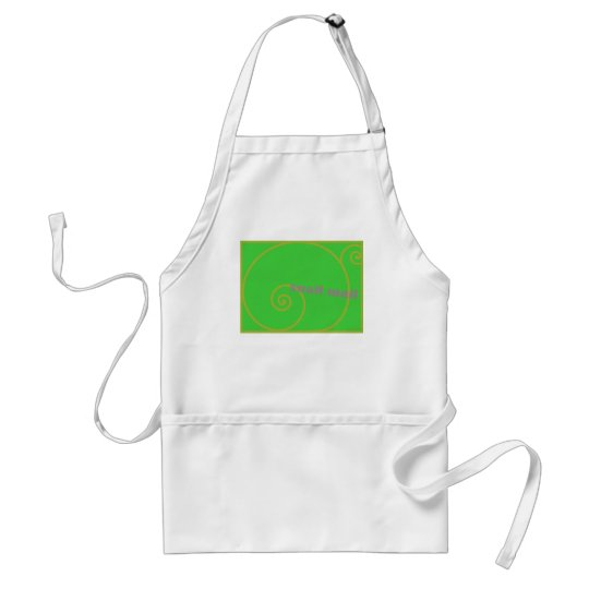 Lime Snail Mail Adult Apron