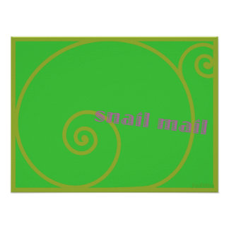 Lime Snail Mail Poster