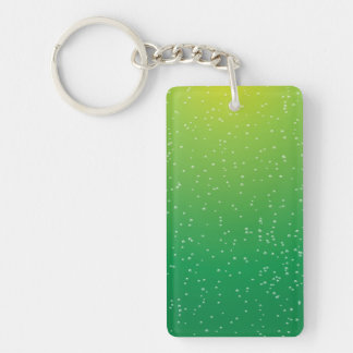 Lime Soda with Tiny Bubbles Background Art Rectangle Acrylic Keychains