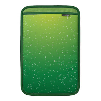 Lime Soda with Tiny Bubbles Background Art MacBook Sleeves