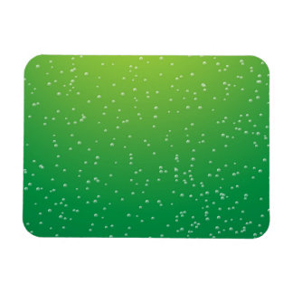 Lime Soda with Tiny Bubbles Background Art Magnet