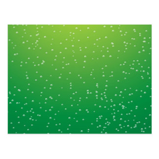 Lime Soda with Tiny Bubbles Background Art Postcard