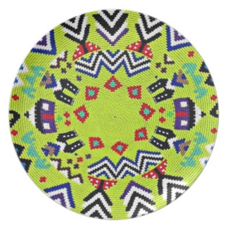 Lime South African Weave  Decorative Plate