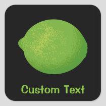 Lime Square Sticker