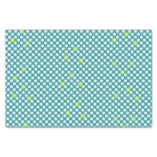 Lime Star Dots Tissue Paper
