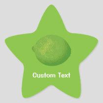 Lime Star Sticker