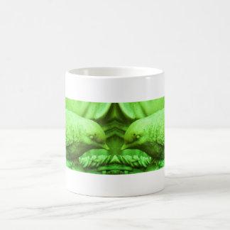 Lime Statuary Bird Coffee Mug